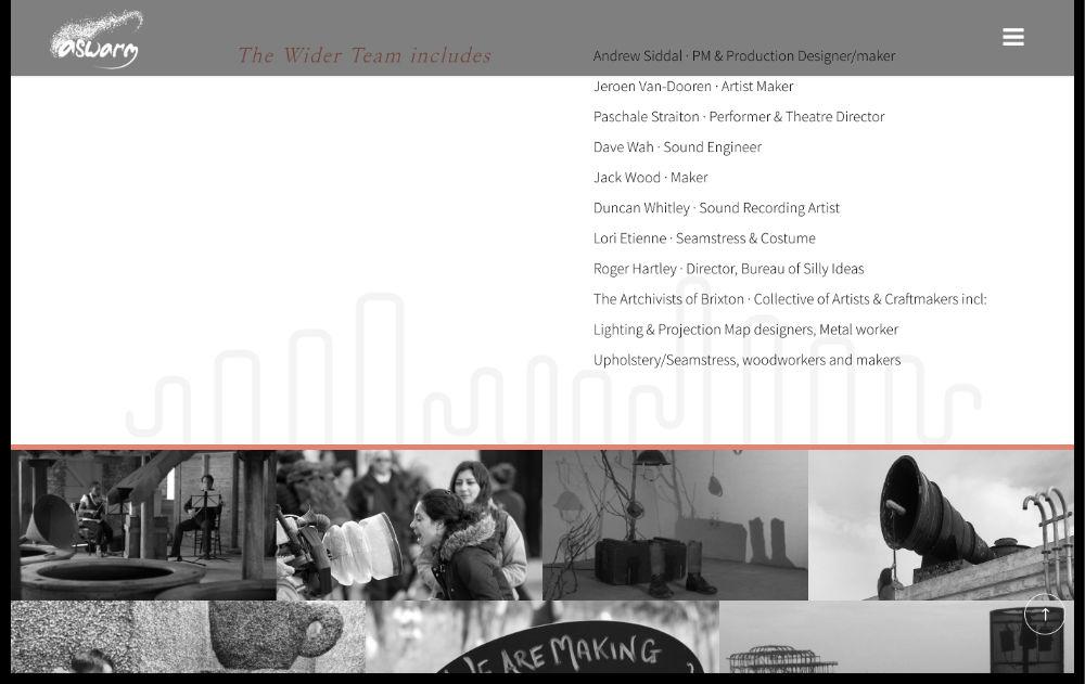 artist website designed by hooper and kind