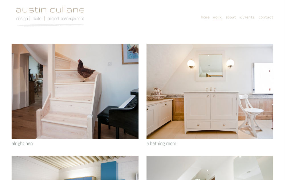squarespace website designed by hooper and kind