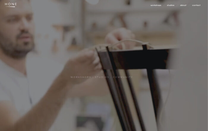 hone website designed by hooper and kind